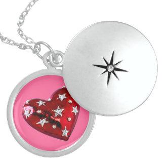 Valentine's Jeweled Heart  Locket