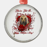 Valentines - Key to My Heart - Afghan Christmas Ornament