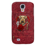 Valentines - Key to My Heart - Airedale Galaxy S4 Cover