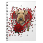 Valentines - Key to My Heart - Airedale Note Books