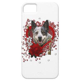 Valentines -Key to My Heart -Australian Cattle Dog iPhone SE/5/5s Case