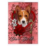 Valentines - Key to My Heart - Basenji Greeting Cards