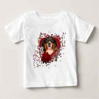Valentines - Key to My Heart -Bernese Mountain Dog Baby T-Shirt