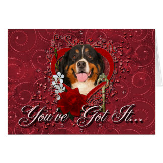 Valentines - Key to My Heart -Bernese Mountain Dog Cards