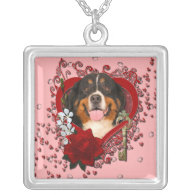 Valentines - Key to My Heart -Bernese Mountain Dog Necklaces