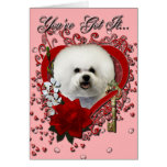 Valentines - Key to My Heart - Bichon Frise Card