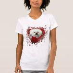 Valentines - Key to My Heart - Bichon Frise T-shirt