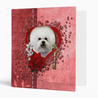 Valentines - Key to My Heart - Bichon Frise Vinyl Binders