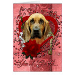 Valentines - Key to My Heart - Bloodhound - Penney Greeting Cards