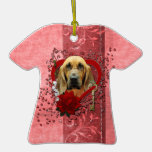 Valentines - Key to My Heart - Bloodhound - Penney Christmas Ornaments