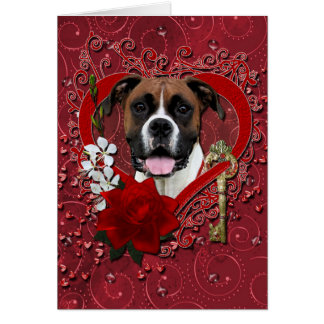 Valentines - Key to My Heart - Boxer - Vindy Card