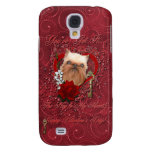 Valentines - Key to My Heart - Brussels Griffon Galaxy S4 Case