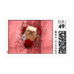 Valentines - Key to My Heart - Brussels Griffon Postage