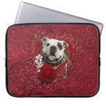 Valentines - Key to My Heart - Bulldog Computer Sleeves