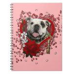 Valentines - Key to My Heart - Bulldog Spiral Note Book