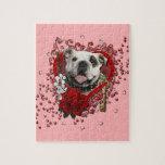 Valentines - Key to My Heart - Bulldog Jigsaw Puzzle