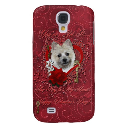 Valentines - Key to My Heart - Cairn Terrier Samsung Galaxy S4 Covers