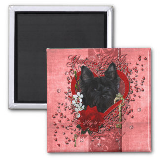 Valentines - Key to My Heart - Cairn Terrier Fridge Magnet
