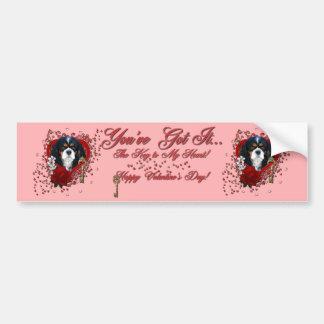 Valentines - Key to My Heart - Cavalier - Dark Car Bumper Sticker