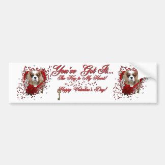 Valentines - Key to My Heart - Cavalier - Light Car Bumper Sticker