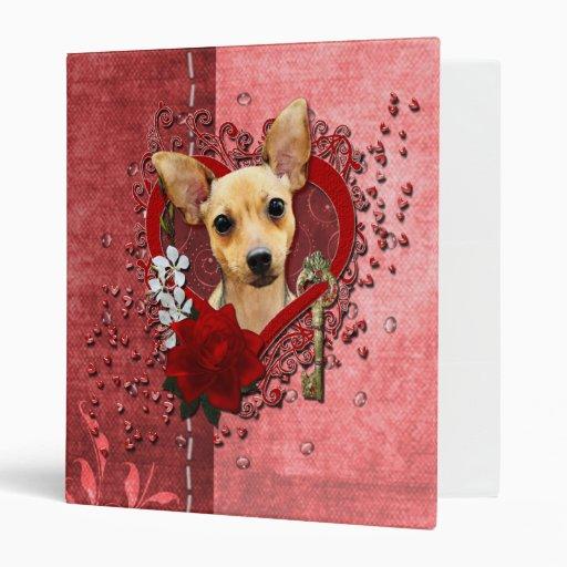 Valentines - Key to My Heart - Chihuahua - Daisy Binders