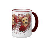 Valentines - Key to My Heart - Chihuahua - Daisy Coffee Mugs
