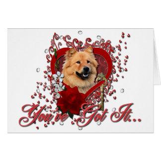 Valentines - Key to My Heart - Chow Chow - Cinny Card