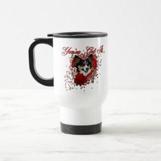 Valentines - Key to My Heart - Corgi Mugs