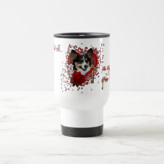 Valentines - Key to My Heart - Corgi Coffee Mug