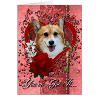 Valentines - Key to My Heart - Corgi - Owen Card