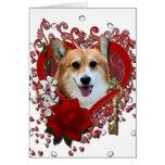 Valentines - Key to My Heart - Corgi - Owen Cards