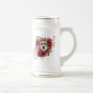 Valentines - Key to My Heart - Corgi - Owen Coffee Mug