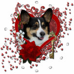 Valentines - Key to My Heart - Corgi Photo Sculptures