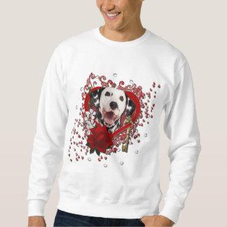 Valentines - Key to My Heart - Dalmatian Sweatshirt