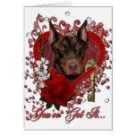 Valentines - Key to My Heart - Doberman - Rocky Card