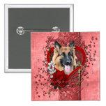 Valentines - Key to My Heart - German Shepherd Pin