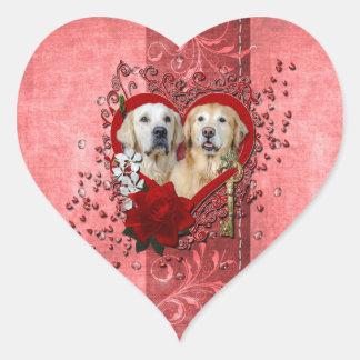 Valentines - Key to My Heart - Goldens - Corona Te Heart Sticker