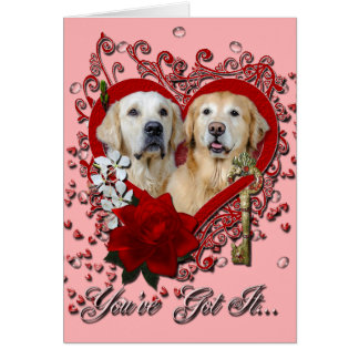 Valentines - Key to My Heart Goldens Corona Tebow Card