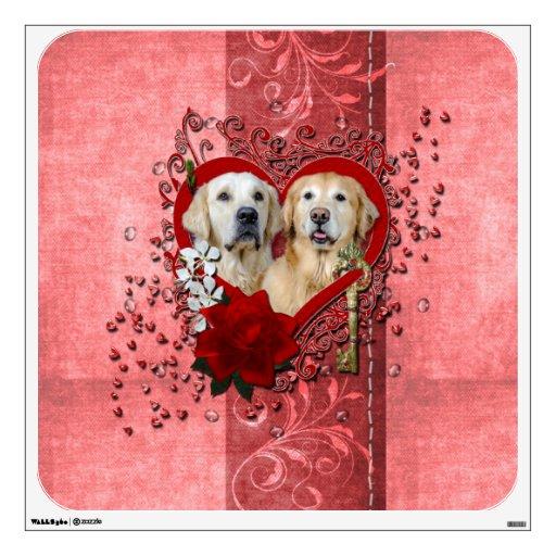 Valentines - Key to My Heart Goldens Corona Tebow Room Graphics