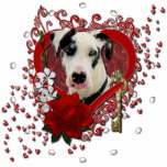 Valentines - Key to My Heart -Great Dane Harlequin Statuette
