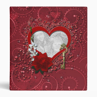 Valentines - Key to My Heart - INSERT YOUR PHOTO 3 Ring Binder