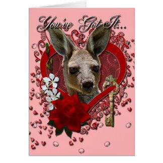 Valentines - Key to My Heart - Kangaroo Card
