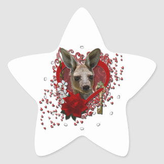 Valentines - Key to My Heart - Kangaroo Star Sticker