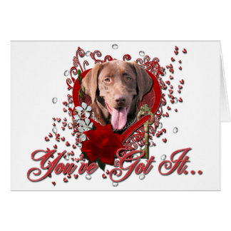 Valentines - Key to My Heart - Labrador -Chocolate Card