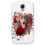 Valentines - Key to My Heart - Labrador -Chocolate Galaxy S4 Case