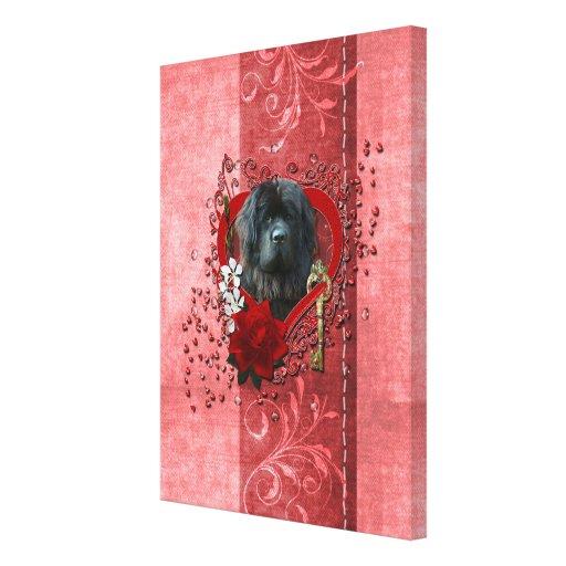 Valentines - Key to My Heart - Newfoundland Canvas Print
