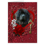 Valentines - Key to My Heart - Newfoundland Greeting Card