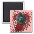 Valentines - Key to My Heart - Newfoundland Magnet
