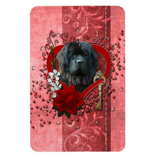 Valentines - Key to My Heart - Newfoundland Rectangular Magnet