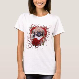 Valentines - Key to My Heart - Pekingese - Zoe T-Shirt
